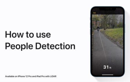 Apple Support、LiDARを使用してiPhone 12 Pro、iPhone 12 Pro Max、およびiPad Proで人を検出する方法のハウツービデオを公開