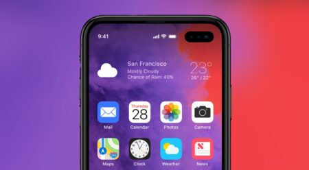 2022年iPhoneは、ホ-ルパンチデザインでノッチを削除する可能性がある