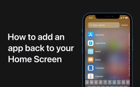 Apple Support、iPhoneおよびiPod touchのホーム画面にAppを戻す方法のハウツービデオを公開