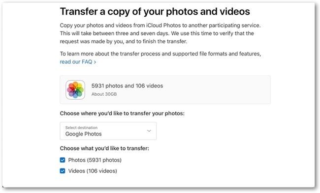 Photo iCloud to Google 00001