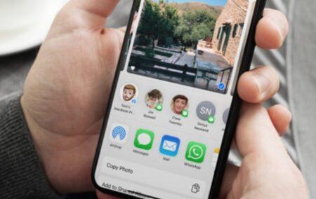 iOSの共有メニューから連絡先の提案を一時的にまたは完全に削除する