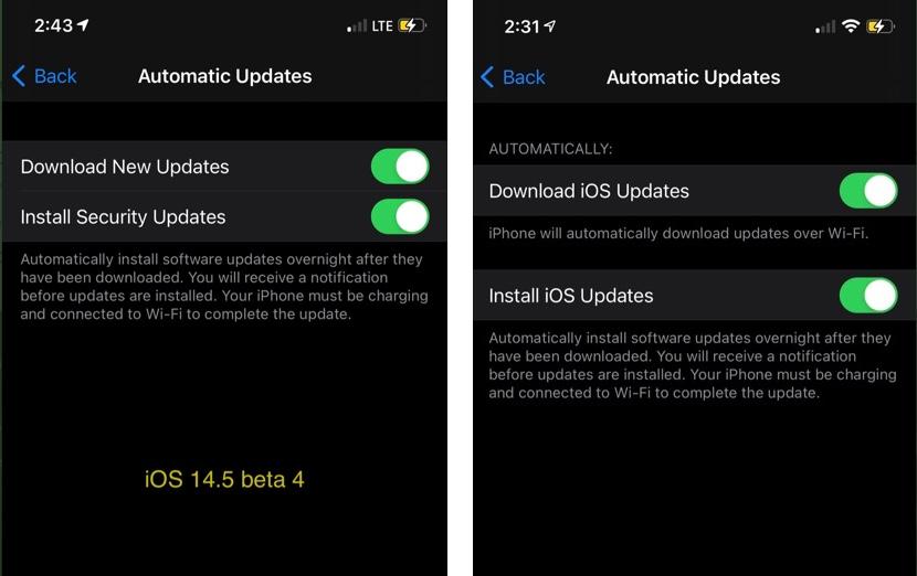 Apple、iPhoneのセキュリティアップデートだけをインストールできるようになる可能性がある