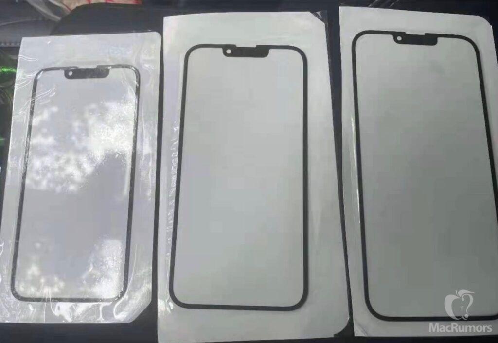 iPhone 13のフロントガラスが小さなノッチを明らかに、イヤホンはトップ・ベゼルに移動
