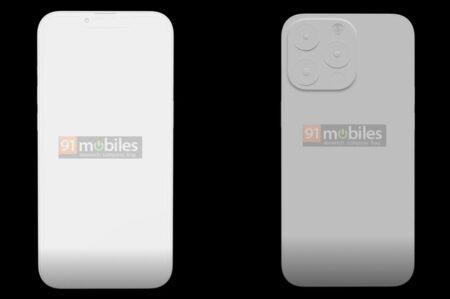 画像を見ると「iPhone 13 Pro 」では、ノッチが小さく、シャーシが厚くなる