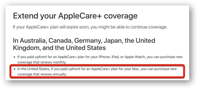 AppleCare+ for Mac 00002