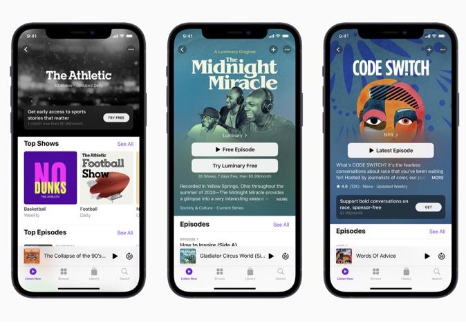 Apple、Apple PodcastサブスクリプションでPodcast配信の次次の章を展開