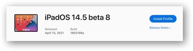IPadOS 14 5 beta 8
