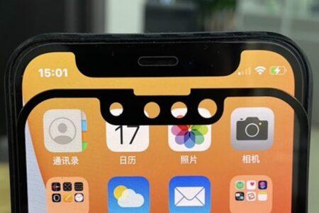 リークした新しい写真によると、iPhone 13のノッチはiPhone 12より小さい