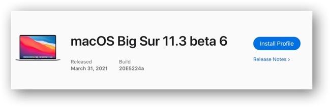 MacOS Big Sur 11 3 beta 6 00001