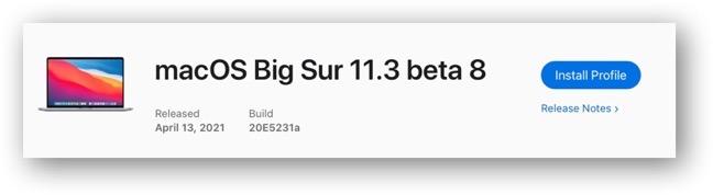 MacOS Big Sur 11 3 beta 8