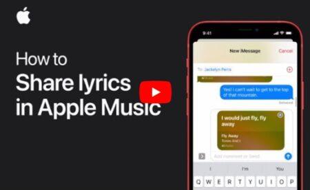 Apple Support、iPhoneおよびiPadでApple Musicの歌詞を共有する方法のハウツービデオを公開