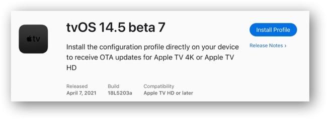 TvOS 14 5 beta 7 00001