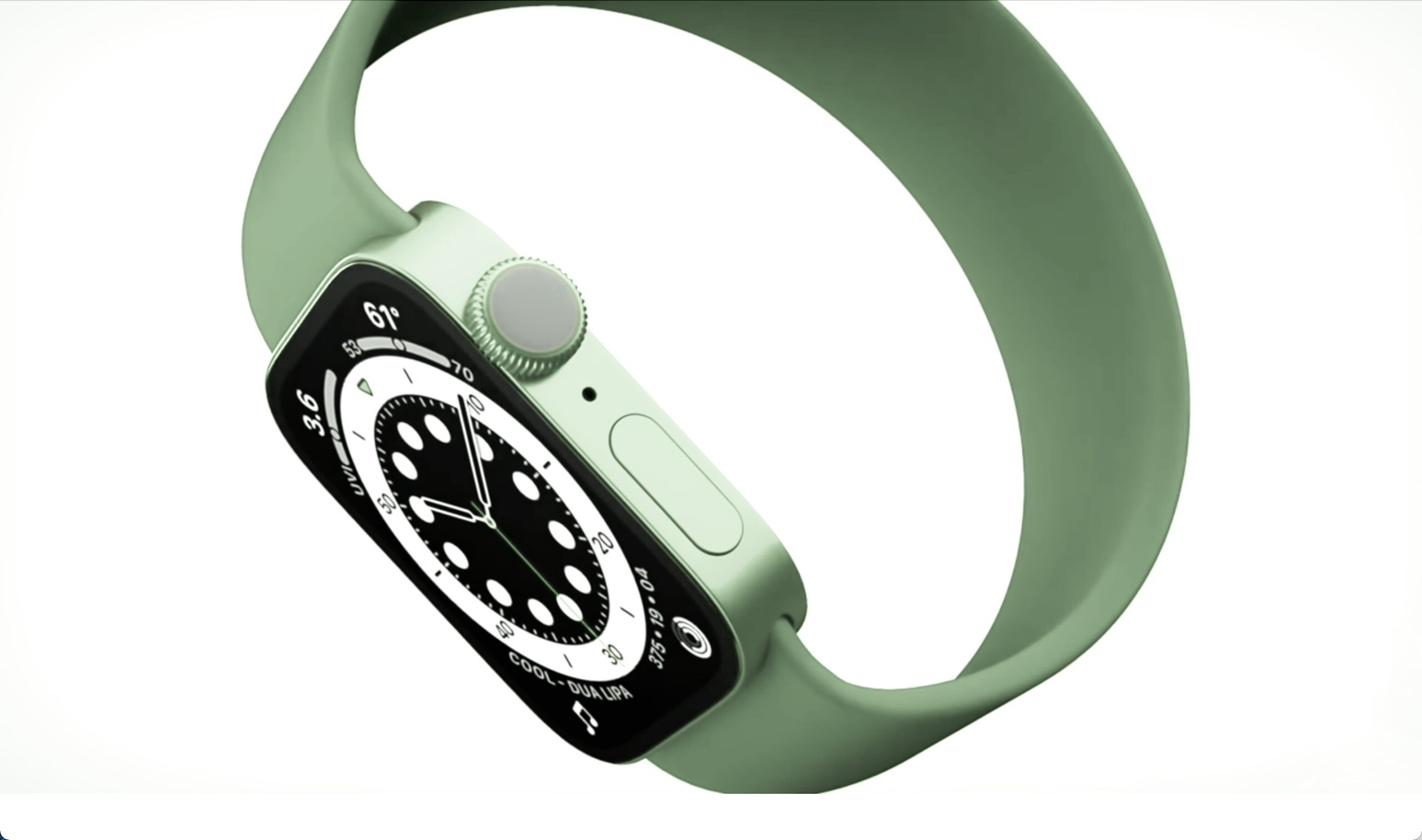 Apple Watch Series 7にはフラットエッジデザインが採用され、新色のグリーンが追加される可能性が