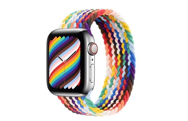 Apple、プライドエディションのApple Watch ブレイデッドソロループとNikeスポーツループを発表