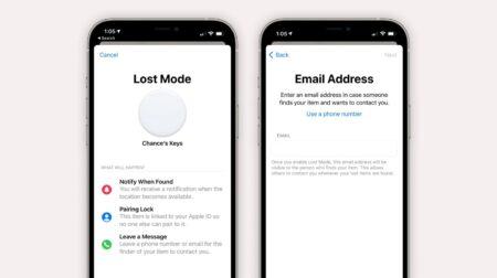 iOS 14.6では、メールアドレスを使ってAirTagなどを紛失モードにすることができるようになる