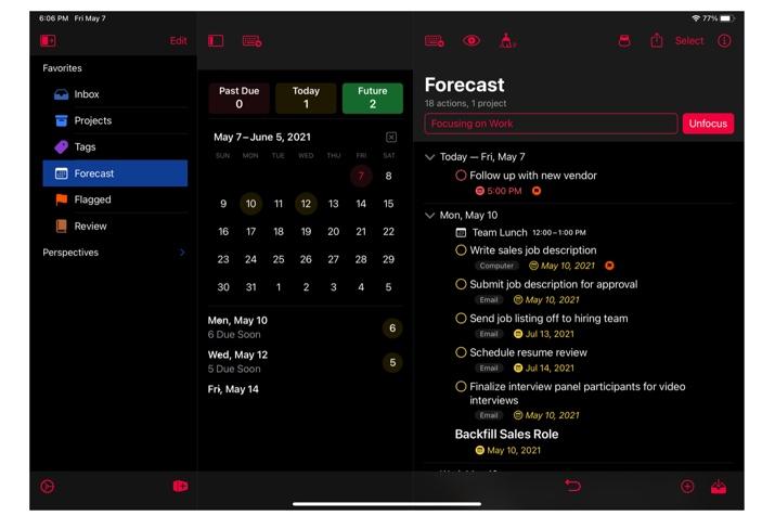 OmniGroup、iOSおよびiPad、Apple Watch版OmniFocus v4パブリックベータ版を発表
