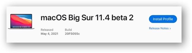 MacOS Big Sur 11 4 beta 2