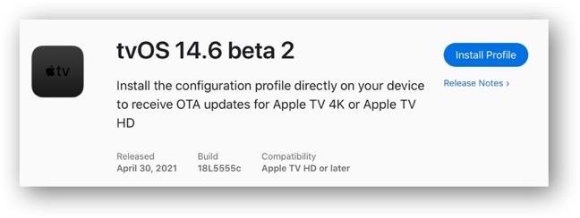 TvOS 14 6 beta 2