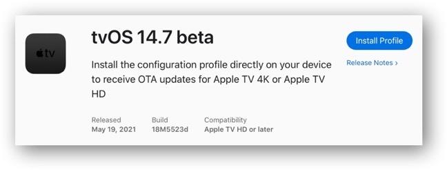 TvOS 14 7 beta 00001