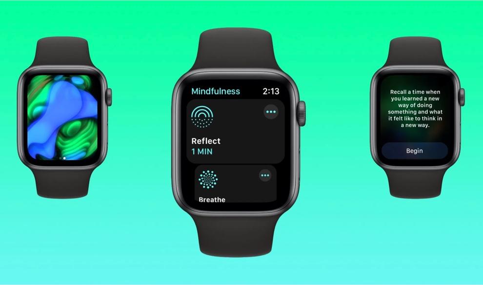 watchOS 8で、マインドフルネスとリフレクトがどのように動作するか