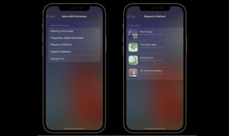 iOS 15、アプリ内課金の返金申請が可能に