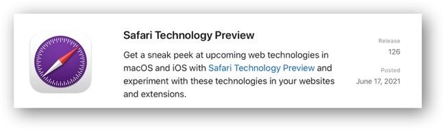 Safari Technology Preview 126