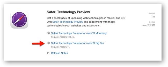 Safari Technology Preview 126 00003