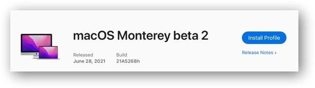 MacOS Monterey beta 2