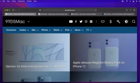 macOS Monterey beta 3 、 苦情に対応し「Safari」のタブインターフェースを刷新