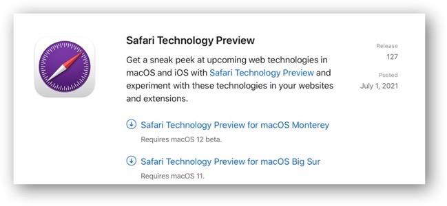 Safari Technology Preview 127 001