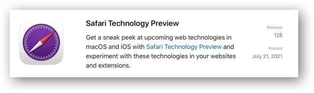 Safari Technology Preview 128
