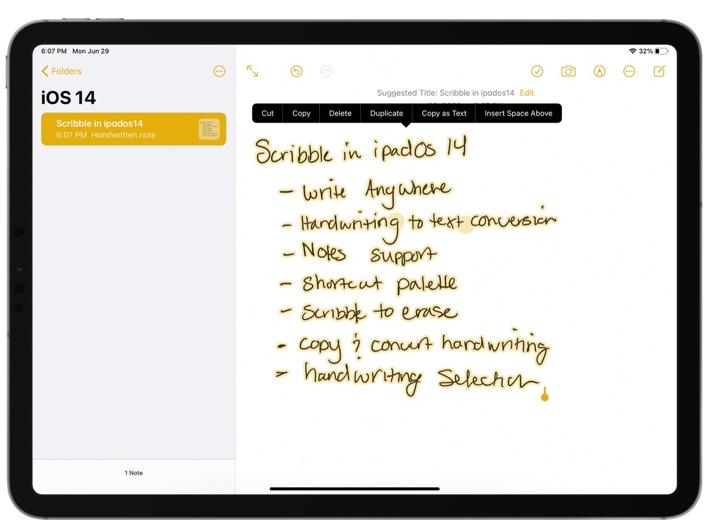 iPadOS 14 Apple Pencilの機能がフランス語、ドイツ語、イタリア語、ポルトガル語、スペイン語に拡張