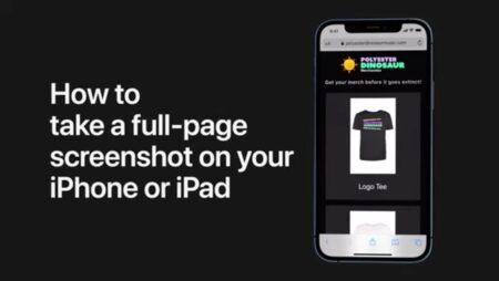Apple Support、iPhoneまたはiPadでフルページのスクリーンショットを撮る方法のハウツービデオを公開