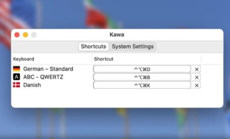 【Mac】キーボードのホットキーを使用して入力言語を変更できる無料のミニアプリ「Kawa」