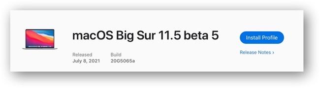 MacOS Big Sur 11 5 beta 5  001