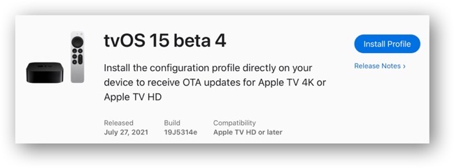 TvOS 15 beta 4