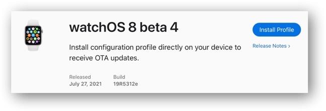 WatchOS 8 beta 4