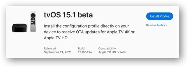 TvOS 15 1 beta