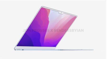 再設計された2022 MacBook Airで白いペゼル、ノッチ、MacSafeなどのレンダリング画像が公開される