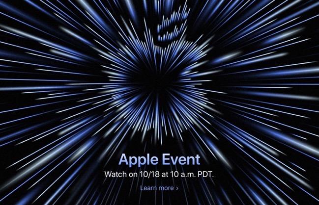 Apple、10月18日(日本時間10月19日)にApple Eventを開催すると発表
