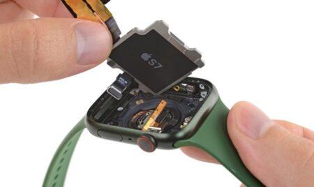 Apple Watch Series 7の分解により、バッテリー容量、ディスプレイの更新などが明らかに