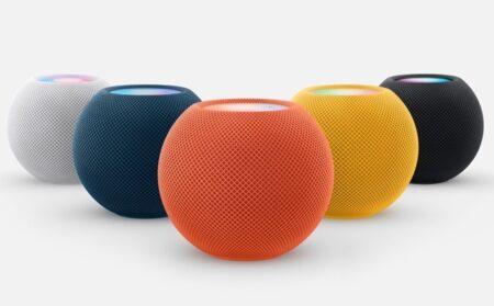 Apple、HomePod Mini のイエロー、オレンジー、ブルーの3つの新色を11月に発売