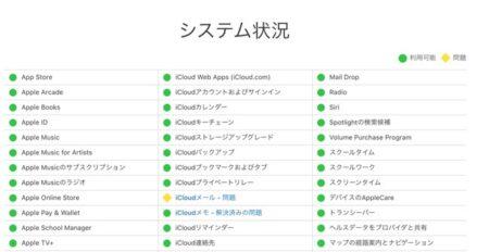 Apple、iCloudメールで受信の遅延が発生中